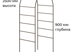 Размеры садовой арки 450х1200х2500