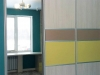 Шкаф купе. Фасады: комбинированное окрашенное стекло