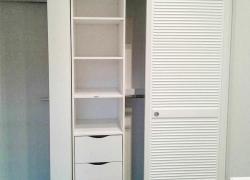 двери в гардеробную с фрезеровкой, с покрытием эмаль
