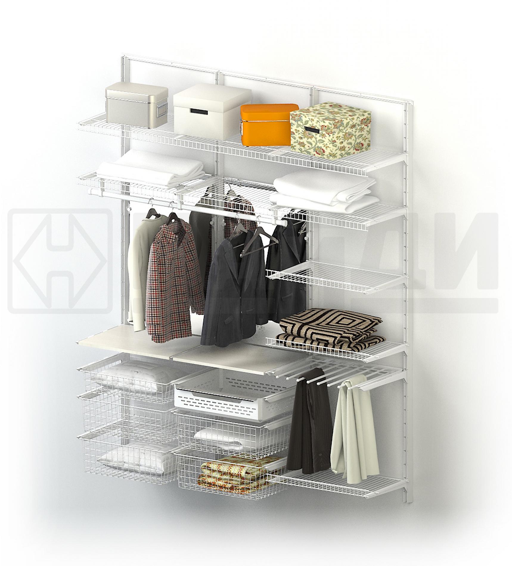 Гардеробная - это система хранения вещей. производство интер.