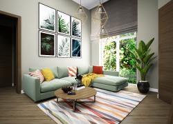Природный стиль, натуральные цвета, древесные текстуры, дополняют интерьер растения