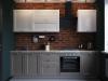 Кухня с рамочными фасадами. Пленка ПВХ. Италия.