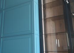 Фасады с двусторонней эмалью и фрезеровкой ручной работы. Толщина фасадов 22 мм.