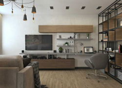Лофт проект гостиной