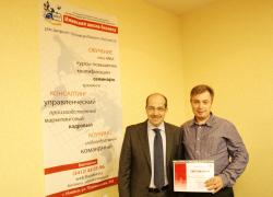 директор компании Найди-мебель Козловскй Дмитрий и ведущий консультант по маркетингу Игорь Манн
