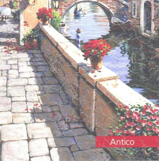 Фреска «Antico». Фактура с россыпью неоднородных естественных трещин, имитирующая живпись на старинной стене