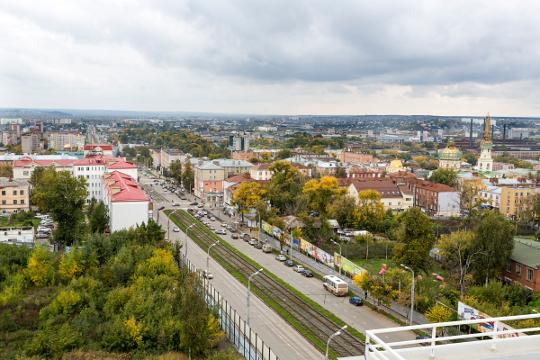 "Вид с крыши здания бизнес-центра ""НАЙДИ"", Ижевск"