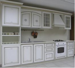 Кухонный гарнитур АФИНА ОРО белая с позолотой  (STOCK)