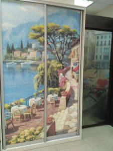 шкаф-купе с фреской