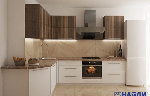 Кухня с выступающим вент. коробом